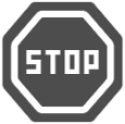 Icon of a stop sign.