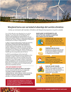 Climate Change fact Sheet in Spanish image link