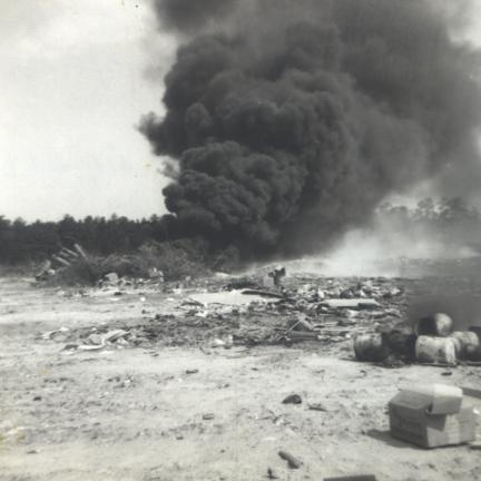 Photo of landfill fire