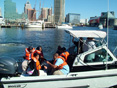 Photo 2 - Students from Digital Harbor High School  with MDE's water quality monitoring staff