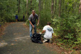Invasive plant removal in Quiet Waters Park