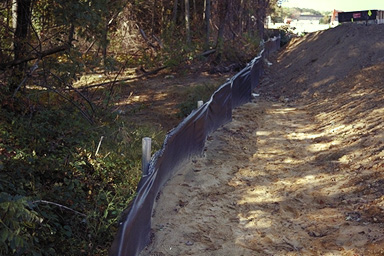 sediment control fence