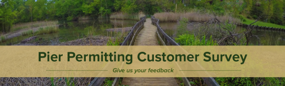 Pier permitting customer survey - Give us your feedback