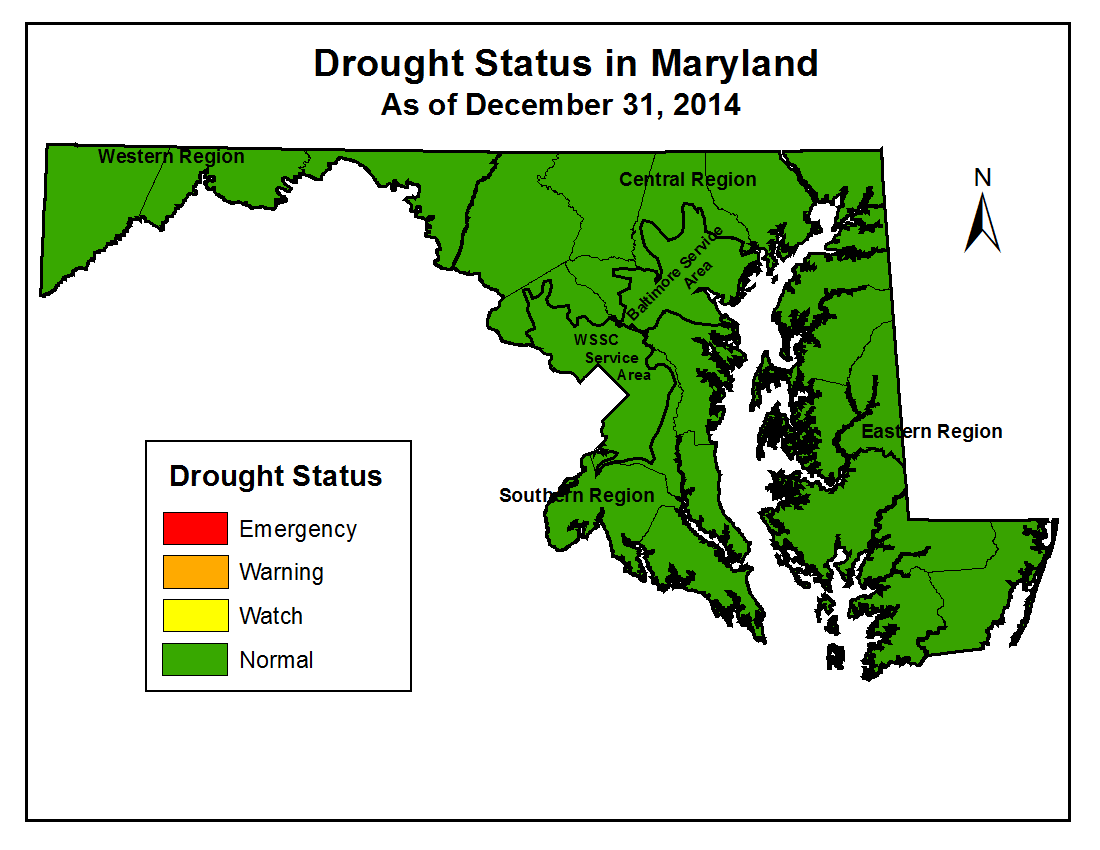 Drought Status as of December 31, 2014