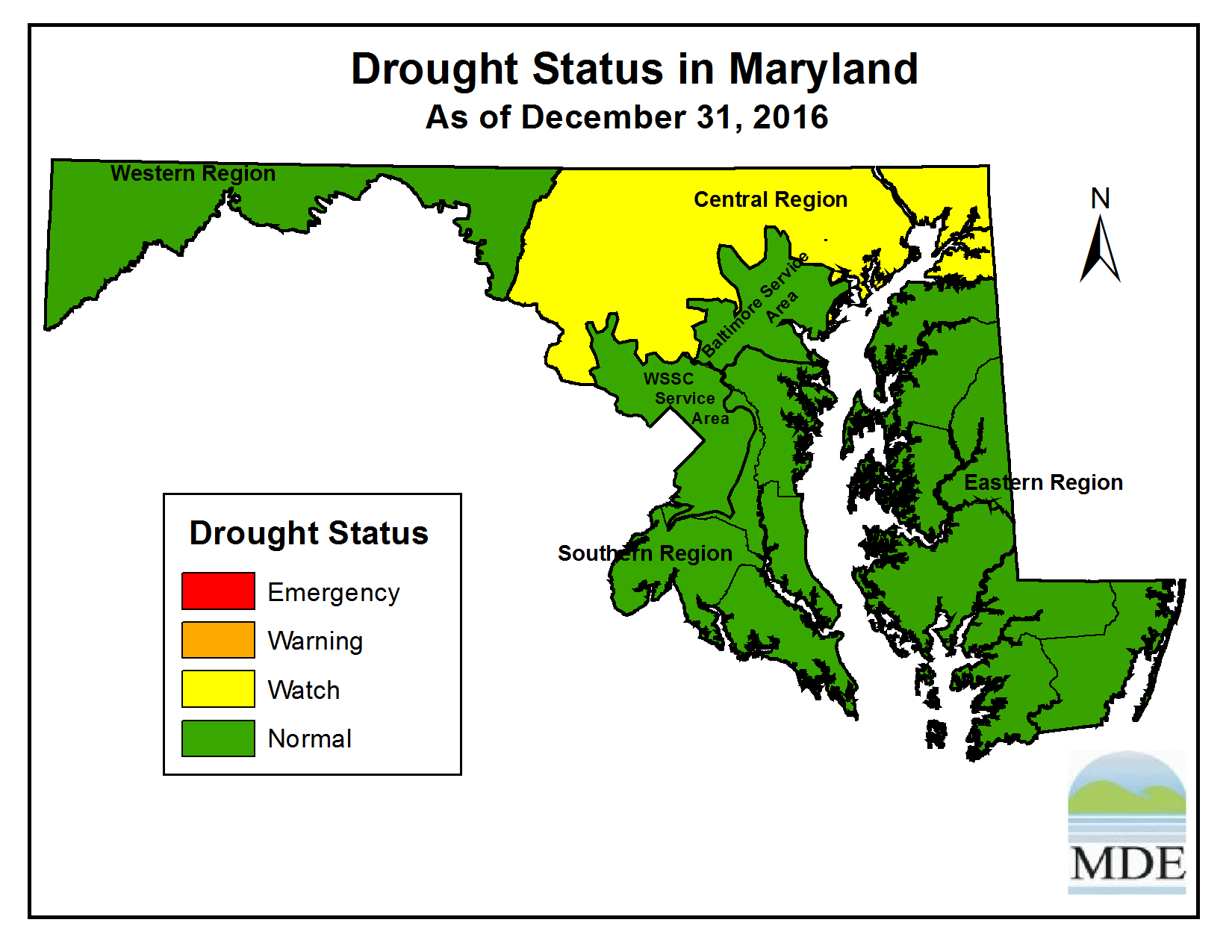 Drought Status as of December 31, 2016