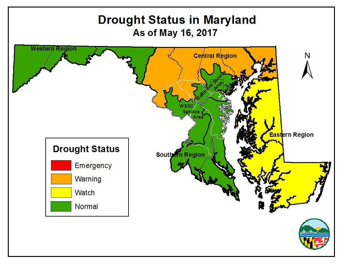 Simple Drought Map for 2017-05-16