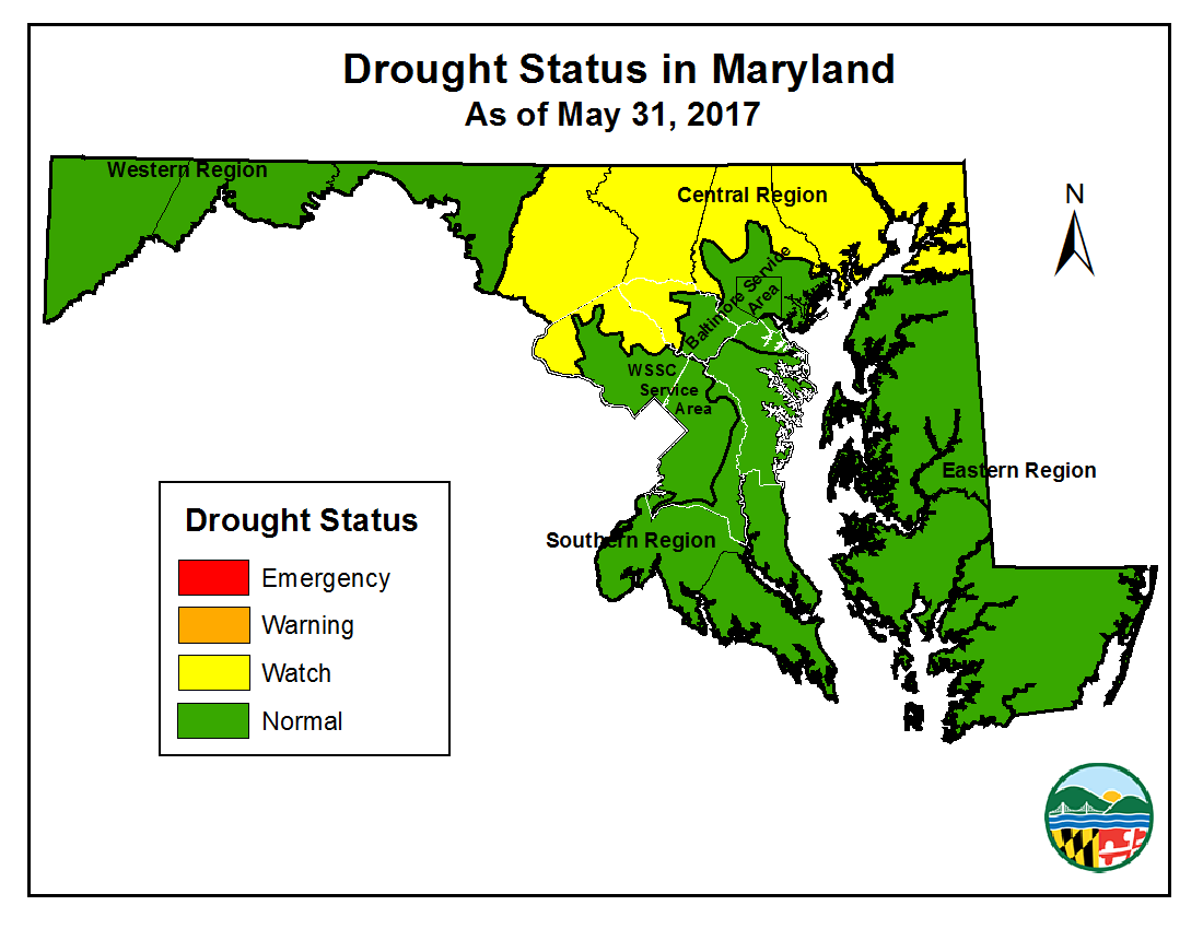 Drought Status as of 2017-05-31