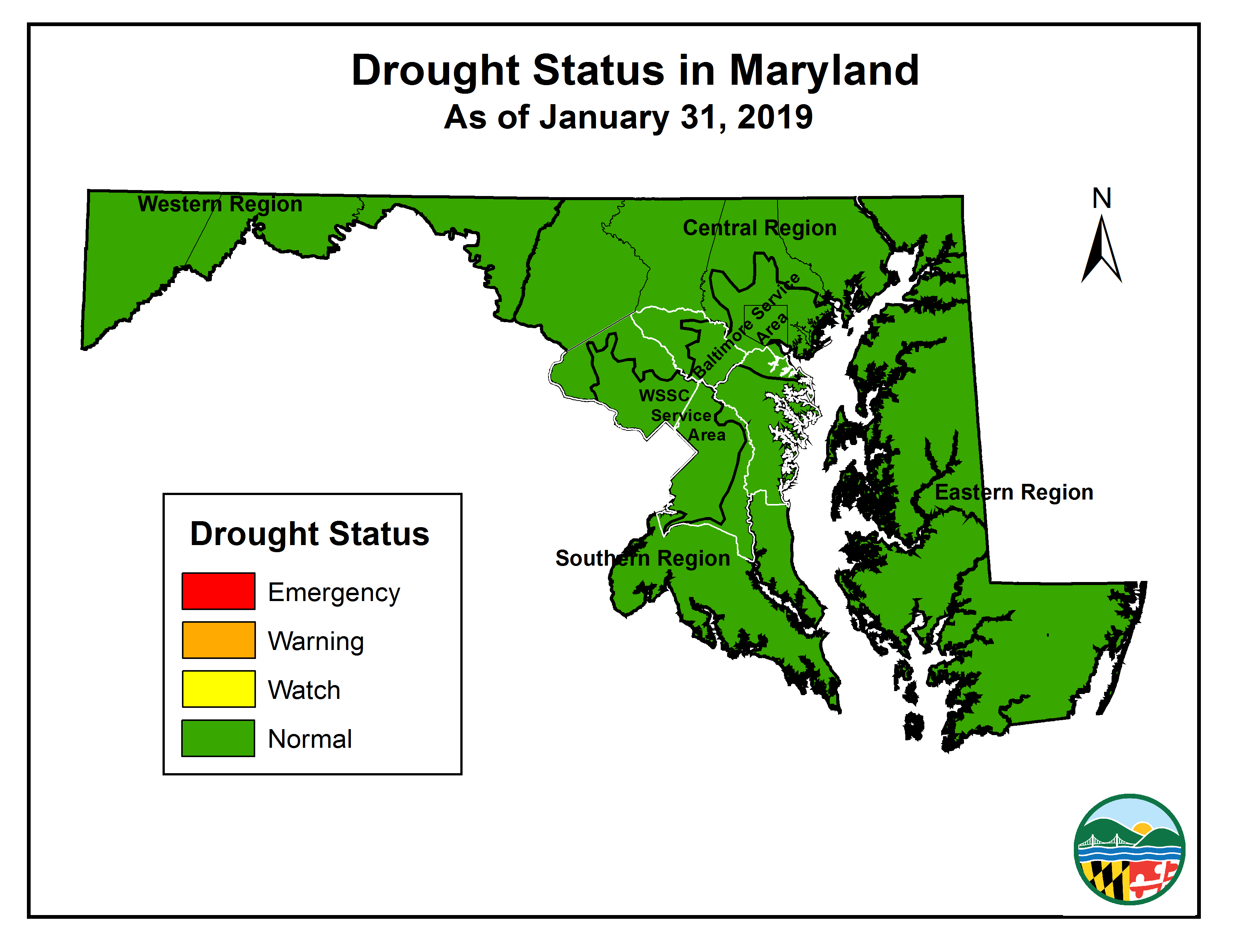 Drought Status Map:2019-01-31