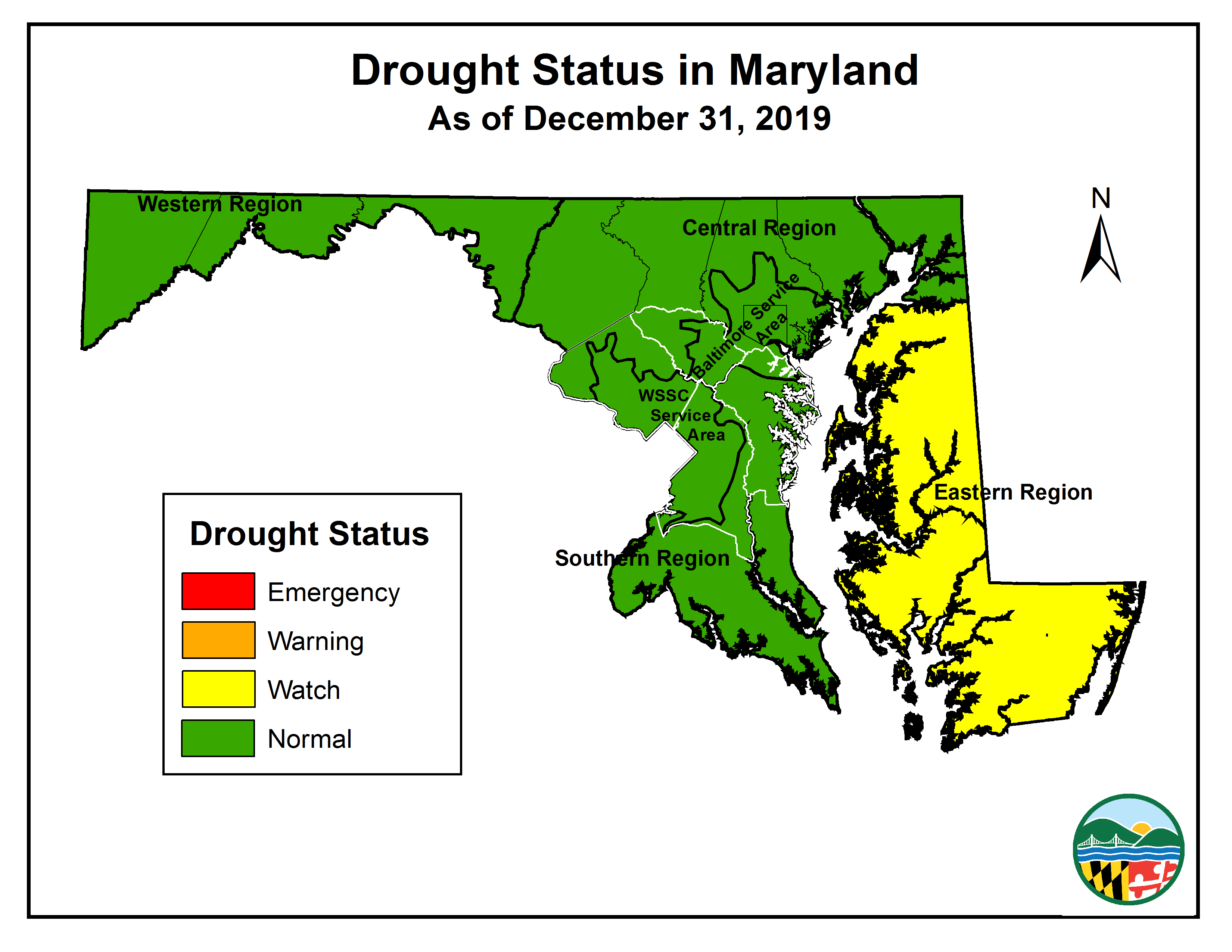 Drought Status Map:2019-12-31