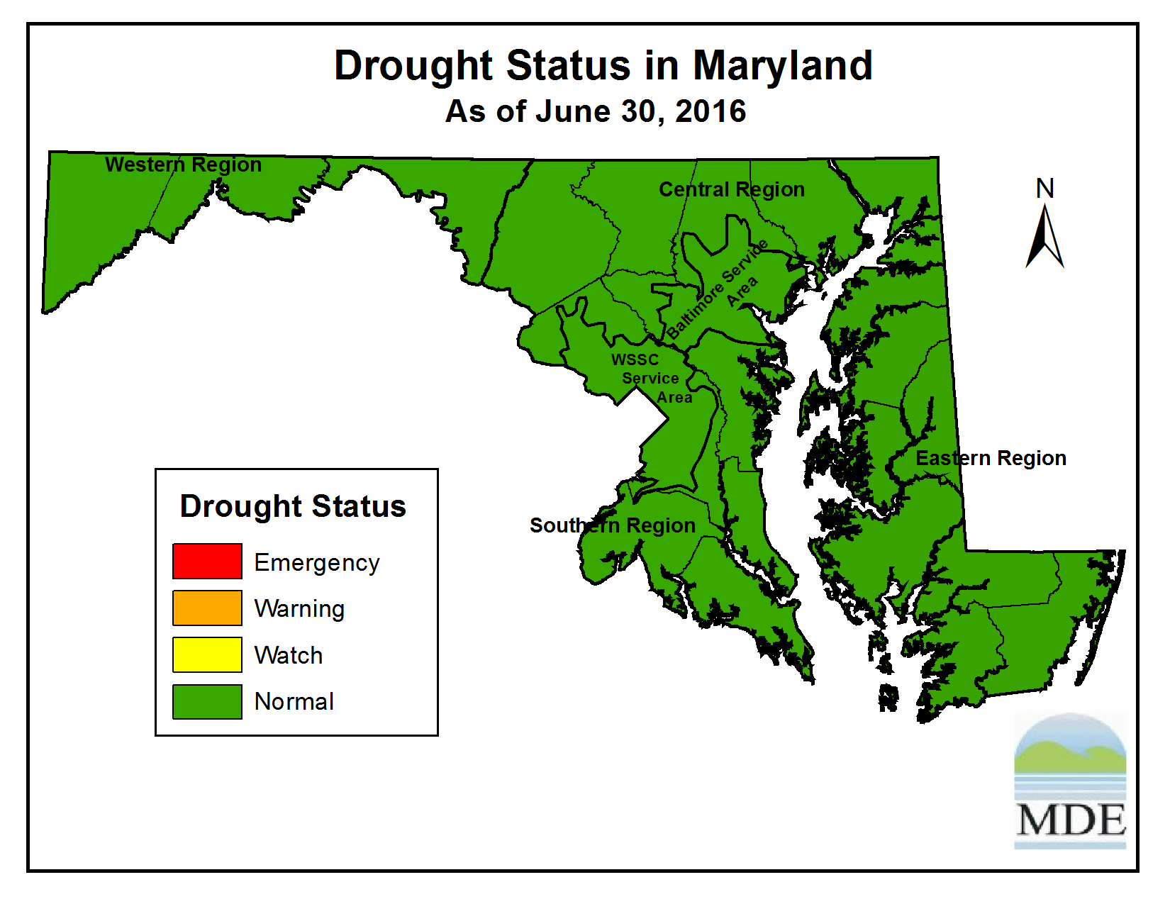 Drought Status as of June 30, 2016
