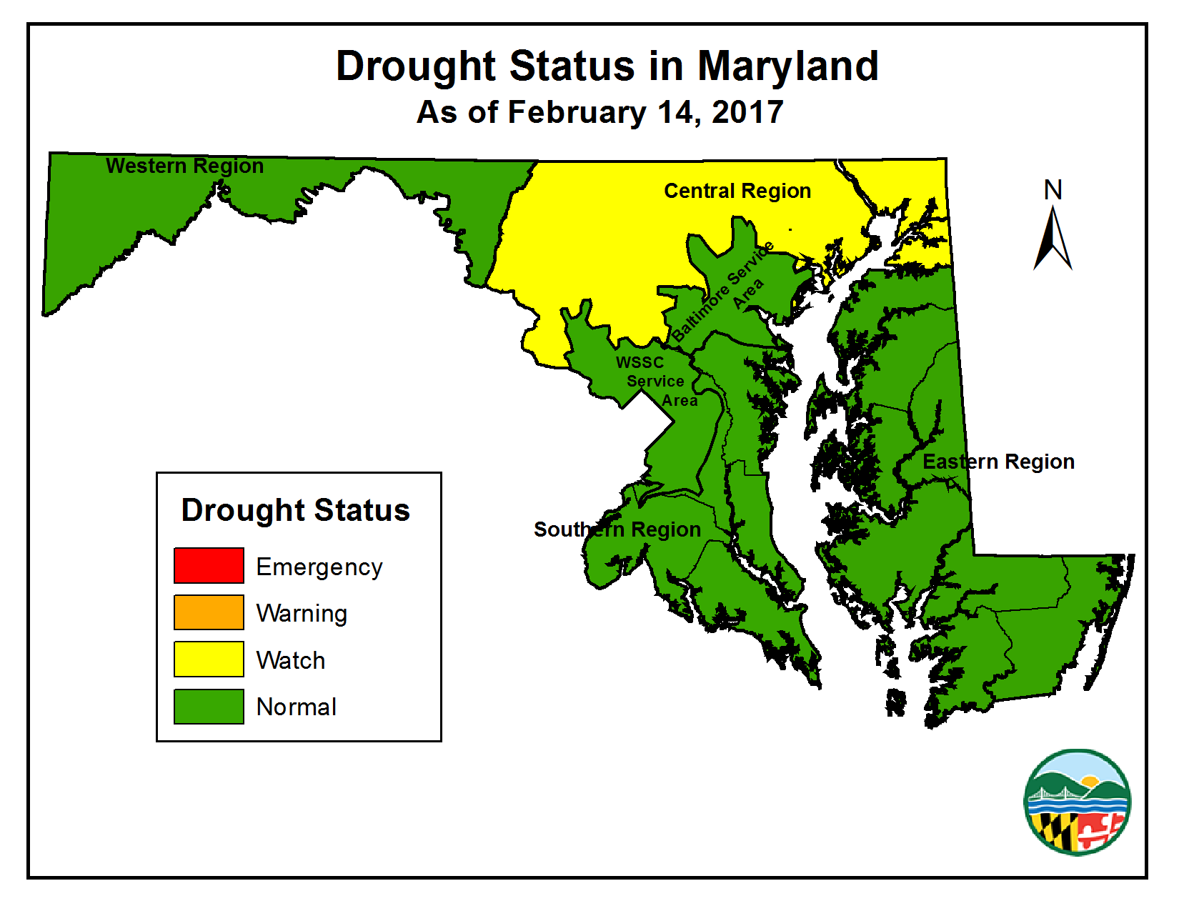Drought Status as of February 14, 2017
