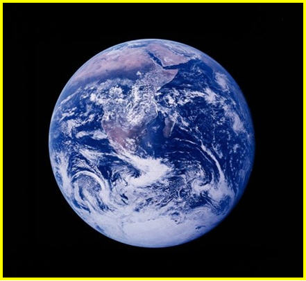 View of the Earth in outerspace