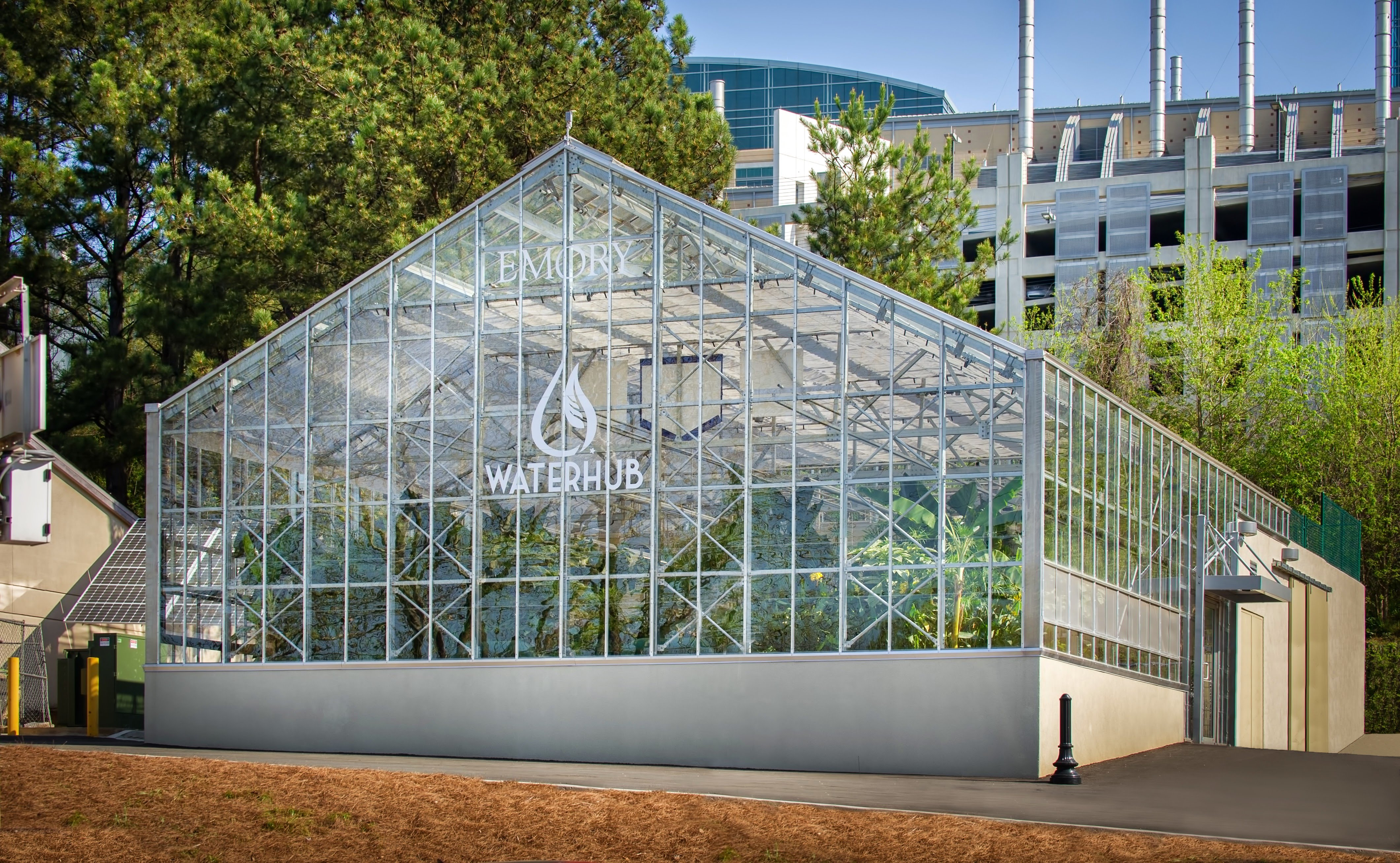 Emory University WaterHub On-site Water Reuse Treatment Greenhouse