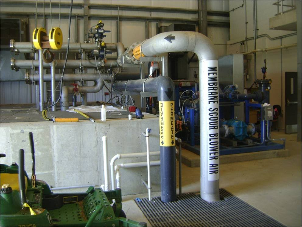 Membrane filter at the Worton wastewater treatment plant (Source: MDE)